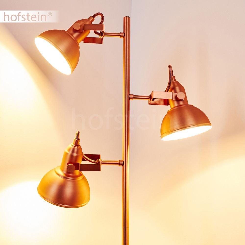 4-flammige Deckenleuchte Tina aus Metall kupferfarben - Zimmerlampe - für Küche - Schlafzimmer - Flur - Zimmerlampe Wohnzimmer - Die Leuchtenköpfe ist dreh- und schwenkbar 0f8b33