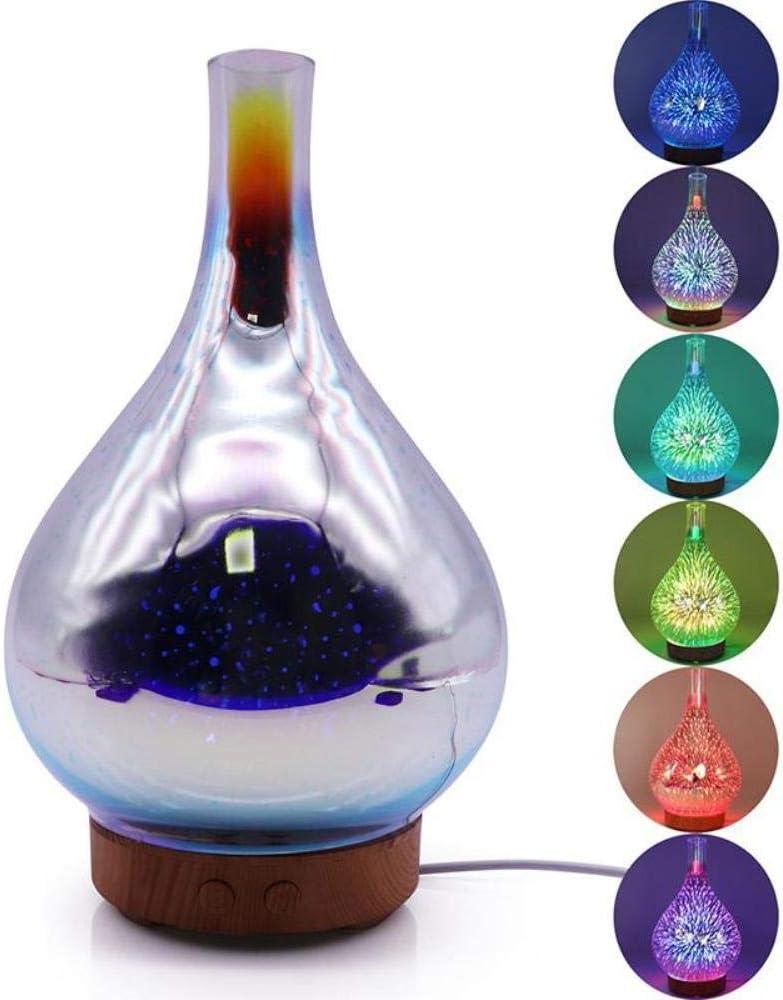 MZRNB 3D de Vidrio en Forma de Vaso de humidificador LED Fuegos ...
