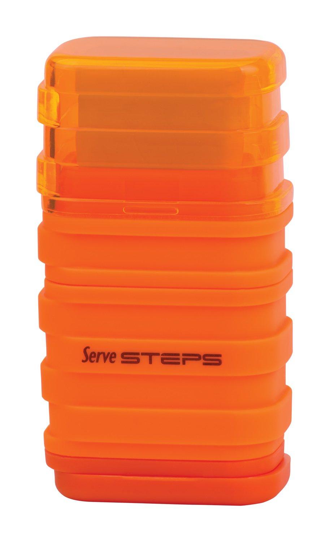 Serve SV Step S9KT Steps Eraser and Sharpner One Body Paper Box, Pack of 9-Fluorescent Colors by Serve (Image #3)