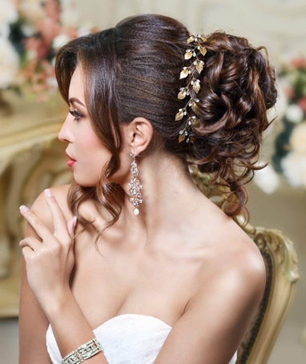 Amazon.com : Golden Leaf Headband Bridal