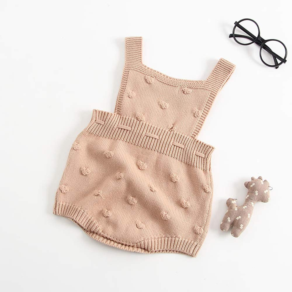 Amazon.com: Lollyeca Newborn Baby Boys Girls Knit Romper Bodysuit ...