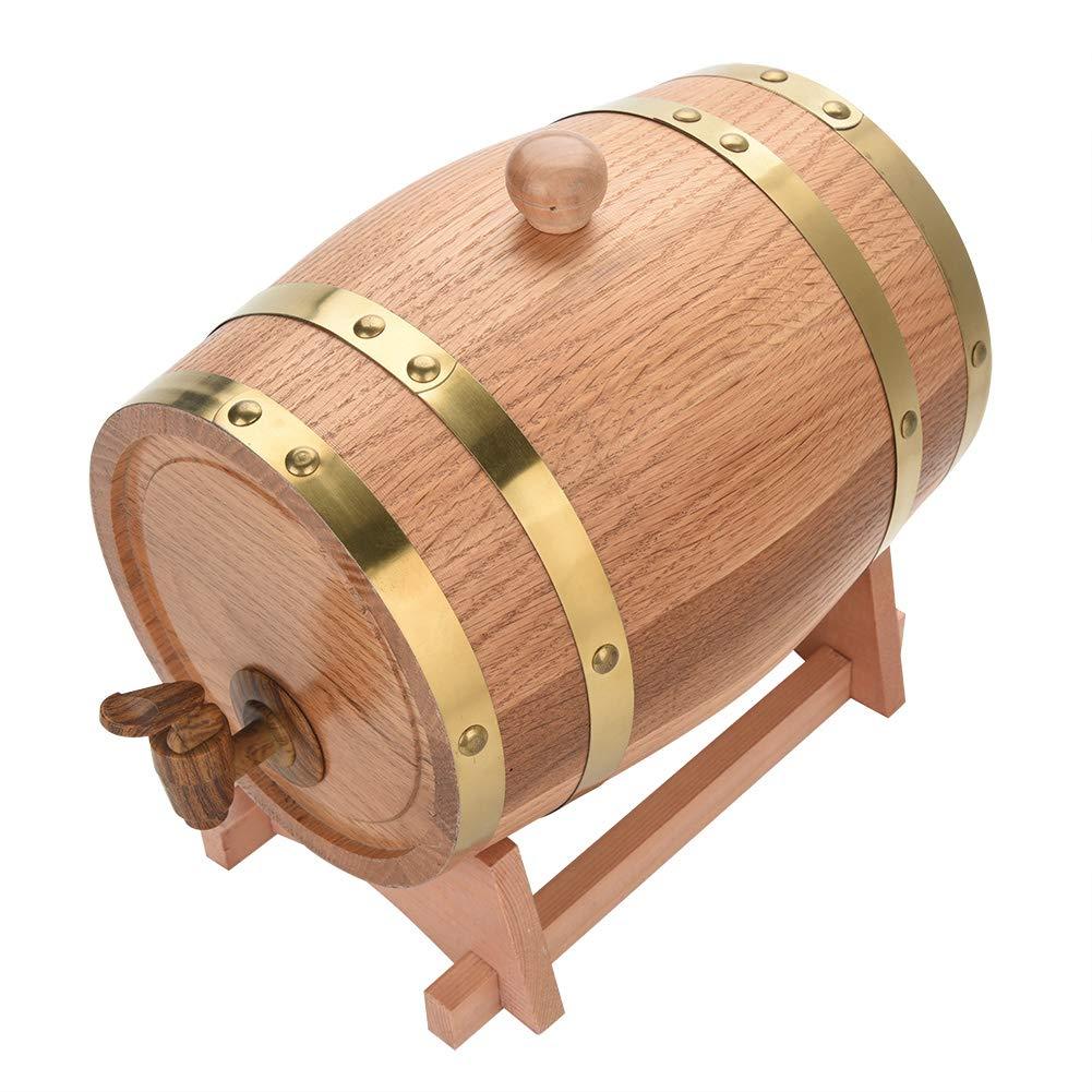 Oak Barrel, Wooden Wine Barrel, Vintage Timber Wine Barrel for Beer Whiskey Rum Bourbon Tequila 3L/5L/10L (3L) by EBTOOLS (Image #9)