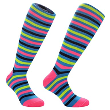 0795b9d75df Samson Hosiery ® 80s CANDY Print Funky Funny Gift Novelty Fashion Sports  And Casual Knee High