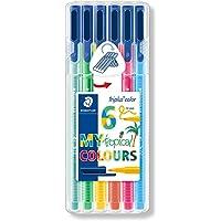 Staedtler 323 Sb6Cs4 Triplus Color Üçgen Keçeli Kalem Tropikal Renkler 1.0 Mm 6'lı Set