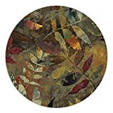 QIMOUSE Coasters for Drink, Leaf Collage Design Set of 4