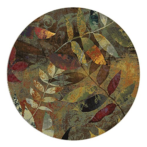 QIMOUSE Coasters for Drink, Leaf Collage Design Set of (Nouveau Leaves)