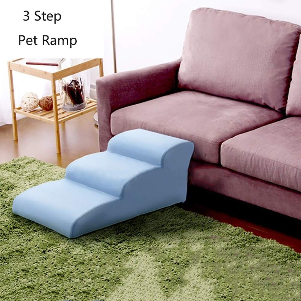 LQQGXL-Escaleras de mascotas Escalera para Mascotas Escalera para Mascotas Grande (Color : Azul, Tamaño : 3 Step): Amazon.es: Productos para mascotas
