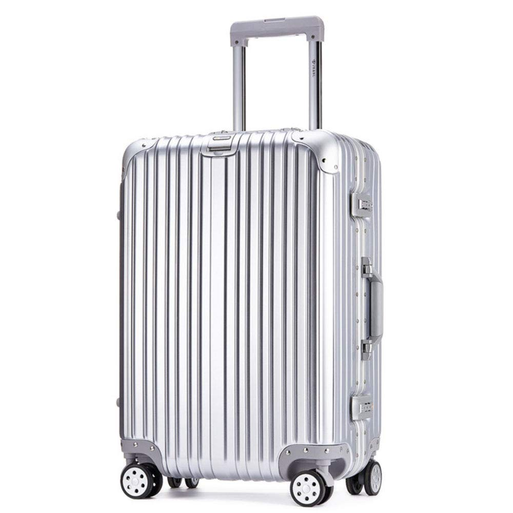 トロリーケースユニバーサルホイール荷物スーツケース20インチ搭乗パスワードスーツケース (Color : シルバー しるば゜, Size : 20 inches)   B07RBQW7SJ