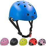 lanova - Casco de Bicicleta para niños con Certificado CPSC Ajustable de niño a niño (Edad 3 a 8) 11 Rejillas de…
