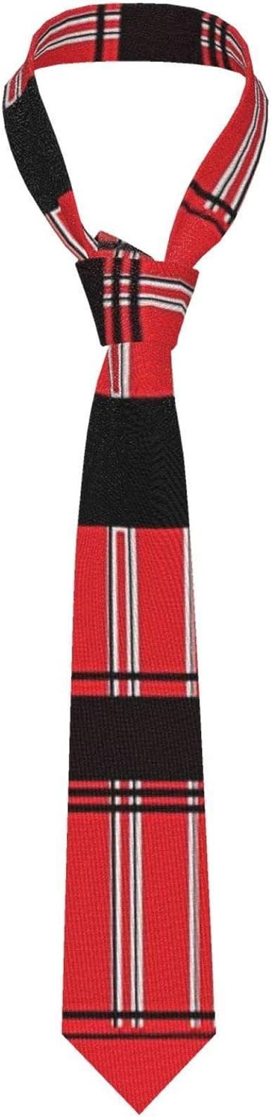 Corbata negra para hombre con diseño de bastón de caramelo a ...