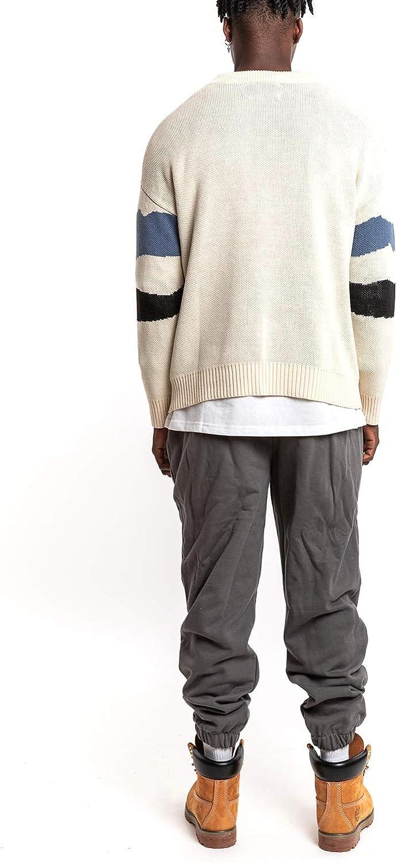 NAGRI Dinosaurier Pullover Strickpullover Sweatshirt Rundhals-Ausschnitt Slim Fit