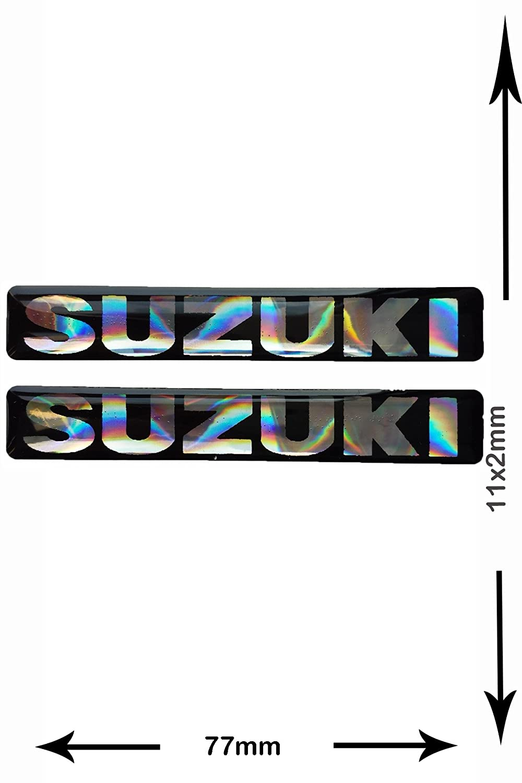 Autocollant Sticker - SUZUKI - 3D Autocollant Sticker - square - 2 pieces - black - Wappen - Decal - Car - Motorbike - Motocross - Bike - BMX - MTB - Scooter- Racing - Patch