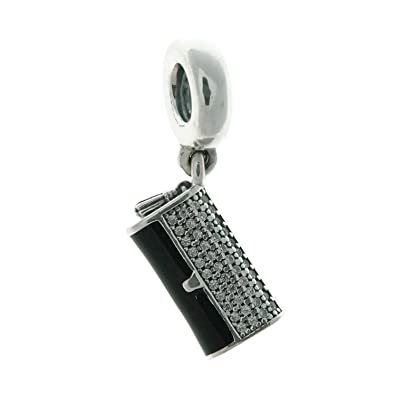 23364a98b Amazon.com: Pandora Clutch Bag Silve and Black Dangle Charm 792155CZ:  Jewelry