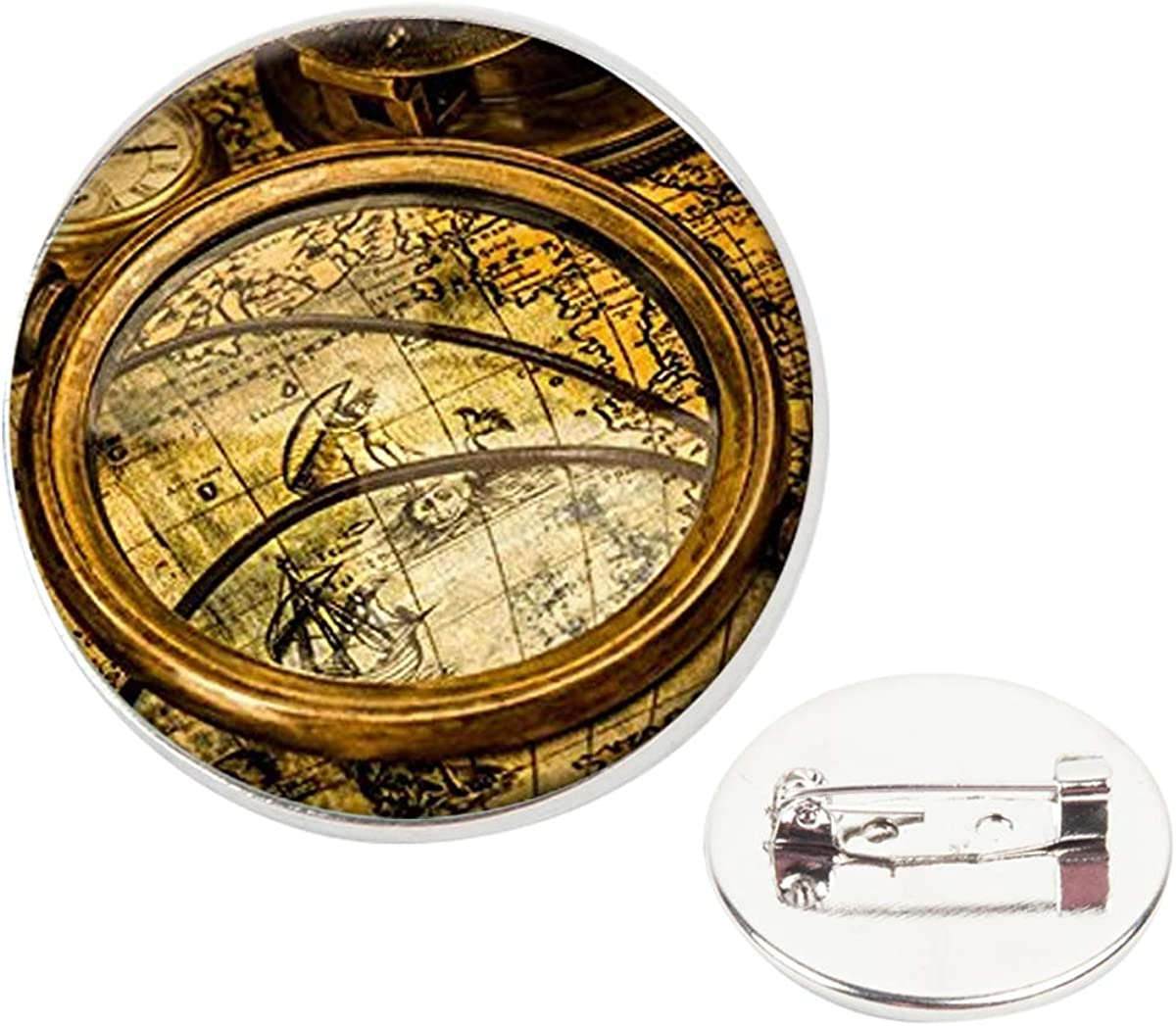 Pinback Buttons Badges Pins Ancient Map Lapel Pin Brooch Clip Trendy Accessory Jacket T-Shirt Bag Hat Shoe