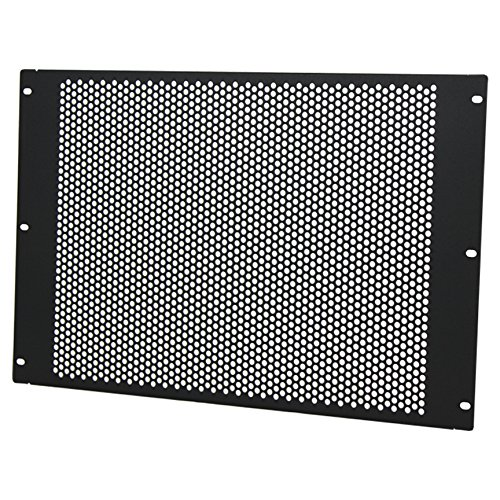 NavePoint 7U Blank Rack Mount Panel Spacer With Venting For 19-Inch Server Network Rack Enclosure Or Cabinet Black