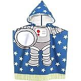 MCGMITT Kid Beach Towel Swimming Bath Hooded Towel (Blue)