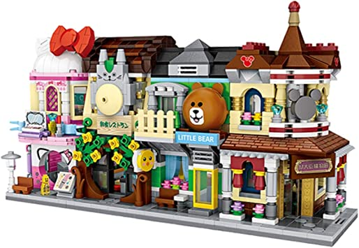 Puzzle Assemble Blocks Play House Mini City Street View Small Granular Blocks