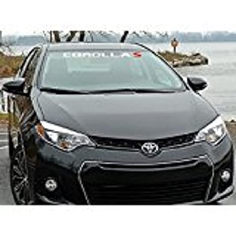 Toyota Corolla Size >> Amazon Com Toyota Corolla S Windshield Decal 42 Inch Wide