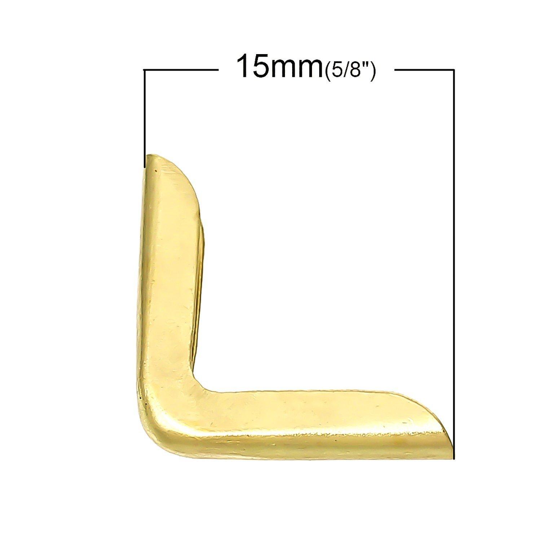 200 Bronze Buchbeschlag Buchecke Metallecke Schutzecke Eckbeschlag 22x16mm