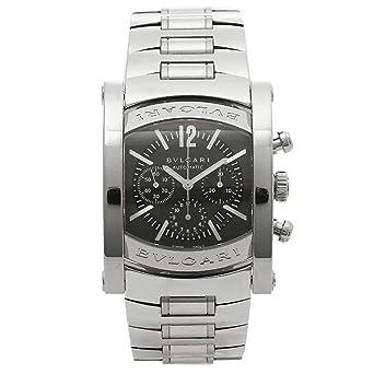47a5414de5 [ブルガリ] 時計 BVLGARI 腕時計 メンズ アショーマ オートマチック クロノグラフ ネイビー AA44C14SSDCH シリアル有 [