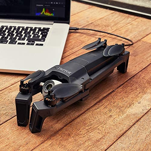 Parrot - Drone Anafi + Télécommande Skycontroller 3, Drone avec Pivot 4K HDR Pivotant à 180 Degrés, Zoom 2,8 Fois sans Perte, Photos 21 MP, Structure Robuste, Drone Parrot Anafi Compact et Léger