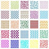 25-pack cookie stencil set for baking