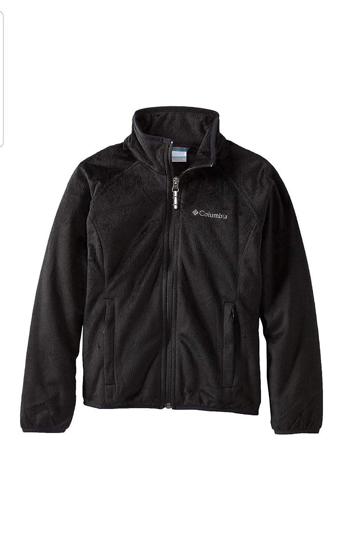 Columbia Big Girls Pearl Plush Full Zip Coat Black X-Large