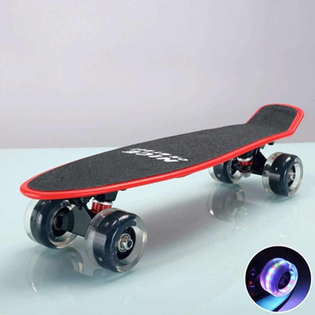 Erwachsene Kinder Kinder Kinder und Jugendliche, die Fischplatte-Vier Runden-Anfänger-Skateboard Fahren B07Q1X5S7T Longboards Markenschmaus 7ae5be
