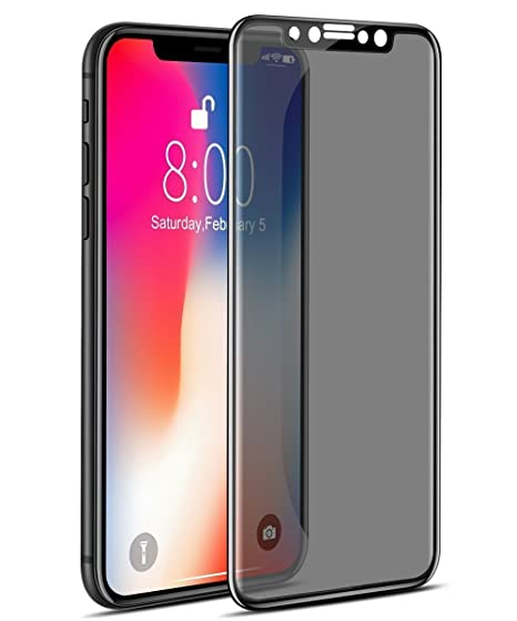 on sale 522a3 89455 Amazon.com: iPhone X Privacy Tempered Glass Screen Protector, ALGENS ...