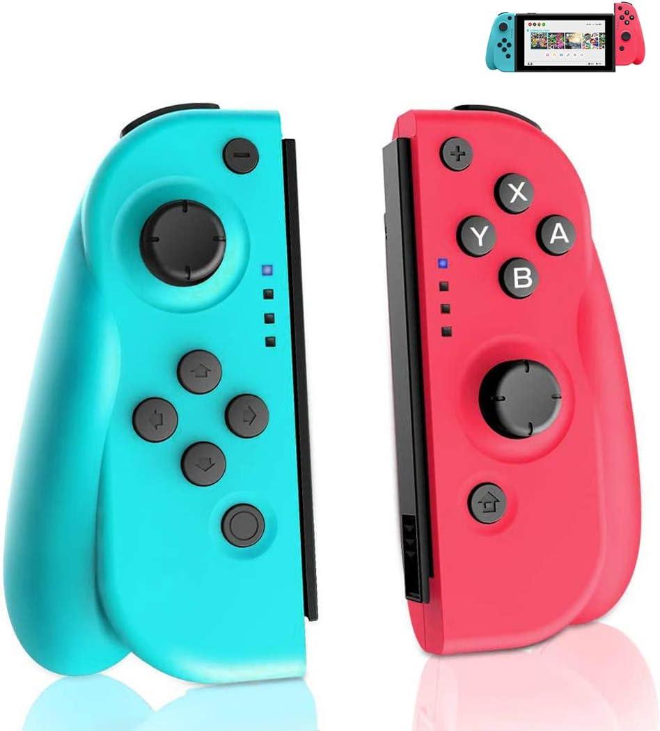 GEEMEE Mando Switch para Nintendo Switch, Bluetooth Wireless Controller Gamepad Joystick Controlador De Reemplazo Izquierdo Y Derecho para Joy con