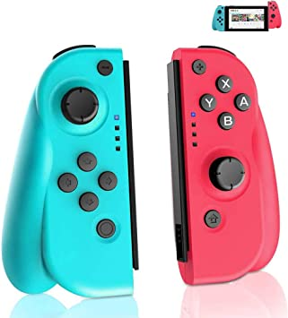GEEMEE Mando Switch para Nintendo Switch, Bluetooth Wireless Controller Gamepad Joystick Controlador De Reemplazo Izquierdo Y Derecho para Joy con: Amazon.es: Electrónica