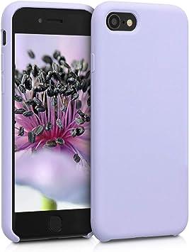 kwmobile Coque Compatible avec Apple iPhone 7/8 / Se (2020) - Coque Étui Silicone - Housse de téléphone Violet Pastel