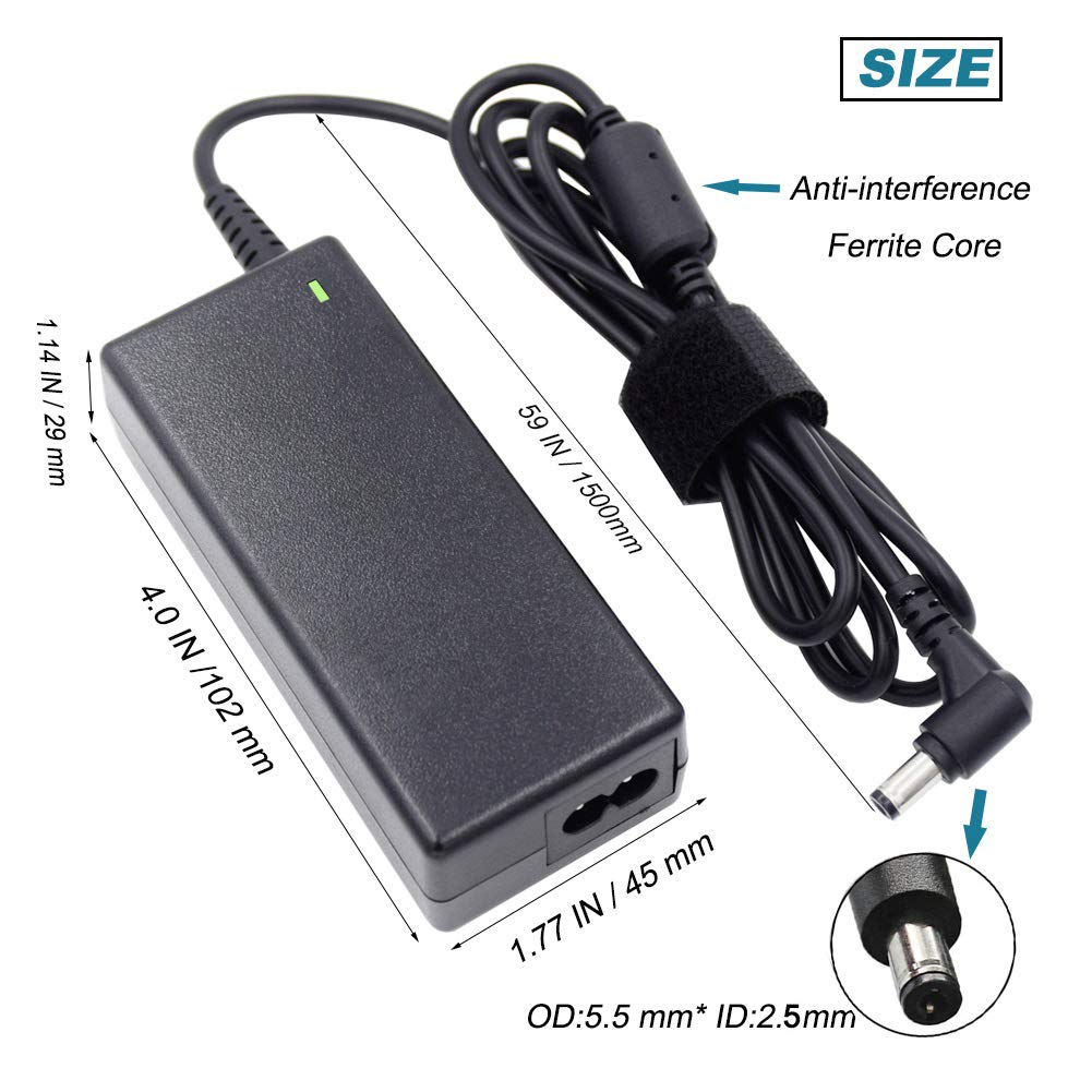 Amazon.com: Gonine 19 V 3,42 A 65 W Fuente de alimentación ...