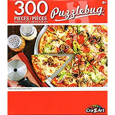Cra-Z-Art Sliced Fresh Baked Supreme Pizza - 300 Pieces Jigsaw Puzzle: Toys & Games