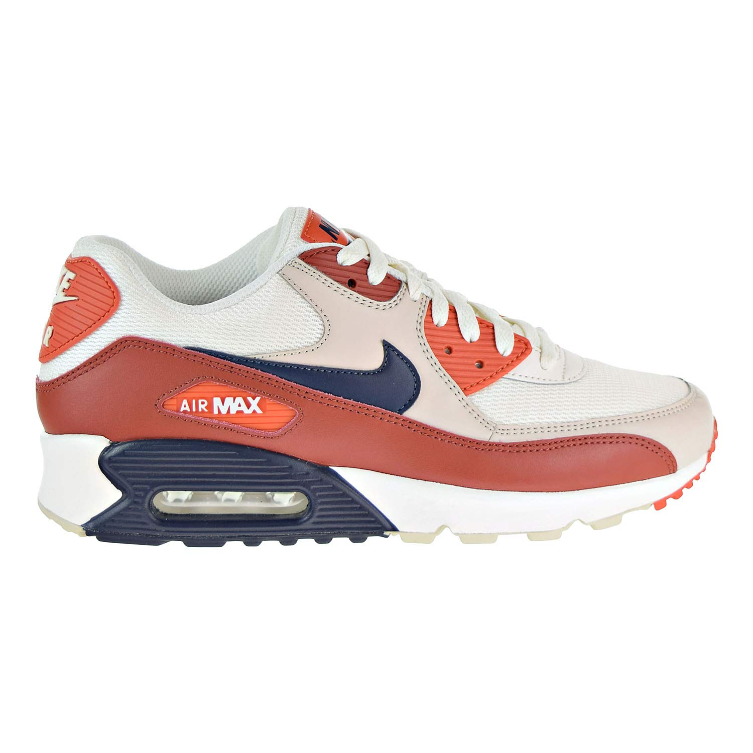 big sale edc83 368d9 Galleon - NIKE Mens Air Max 90 Essential Running Shoes Mars Stone Obsidian Vintage  Coral AJ1285-600 Size 8.5