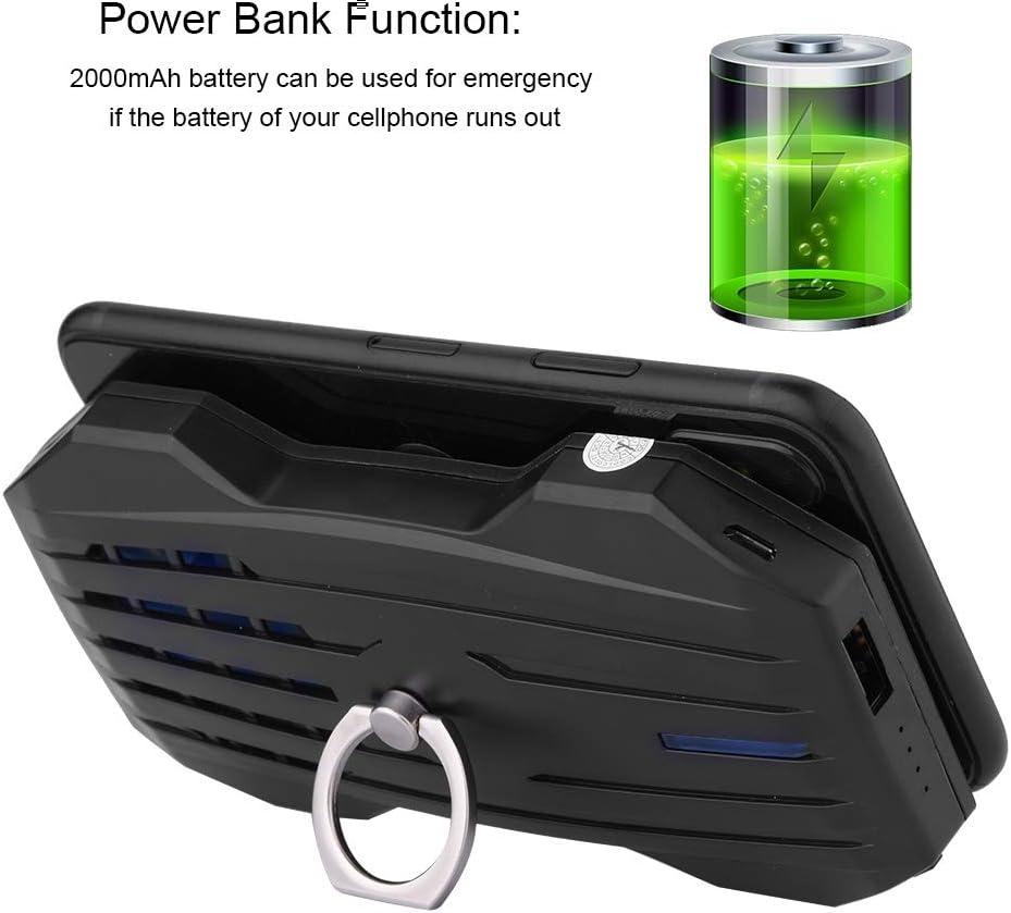 Diydeg Power Bank Charger 2000 mA Cellphone Radiator Cellphone Cooling Fan for Smart Phones Black