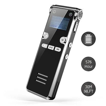 Dr.meter Grabadora digital de 8GB con tarjeta de 32GB TF ...