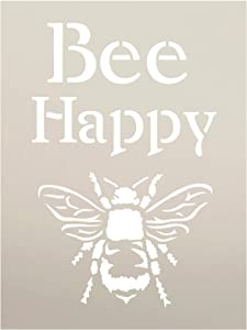 """Bee Happy Stencil by StudioR12 