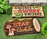 Gift Craft Outdoor Forest Friends PVC/Coir Floor Mat Woodland Rug (Stay Awhile Log) Doormat 711520