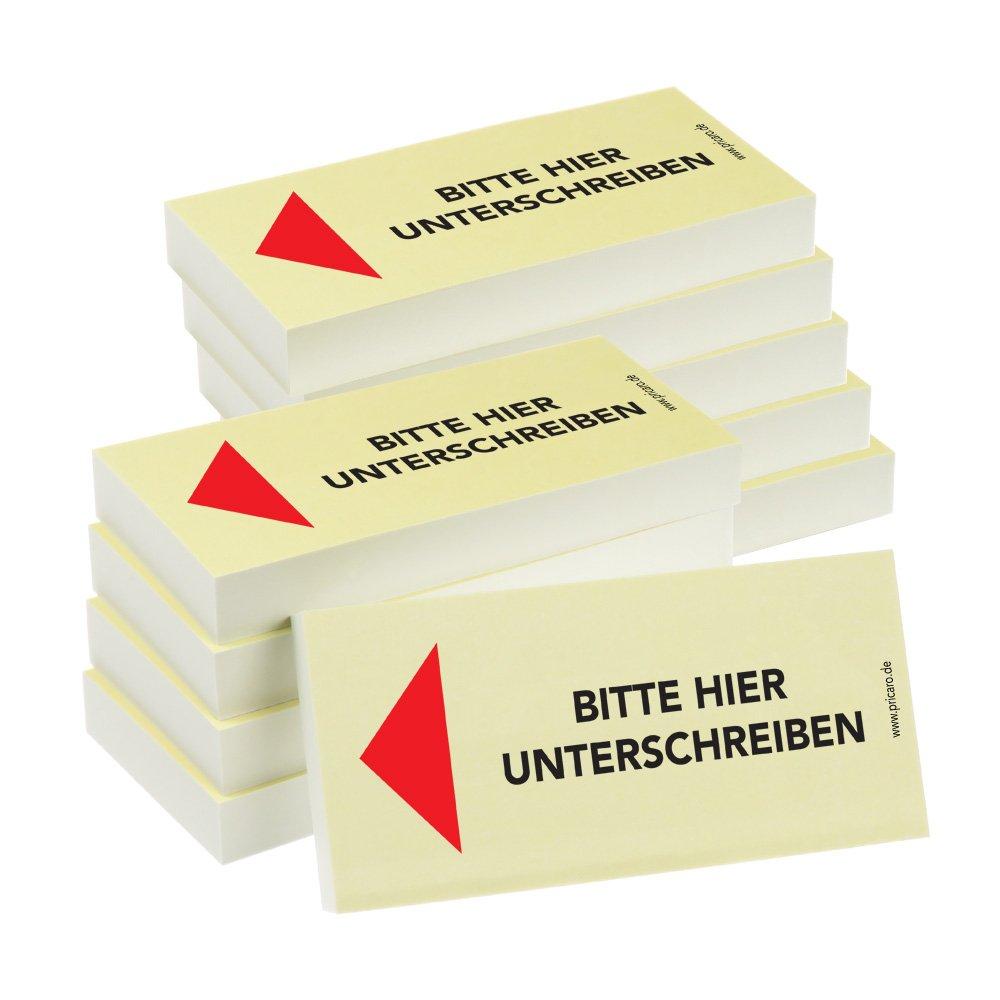 PRICARO HaftnotizenF/ür Ihre Unterlagen 10 St/ück 100 Blatt