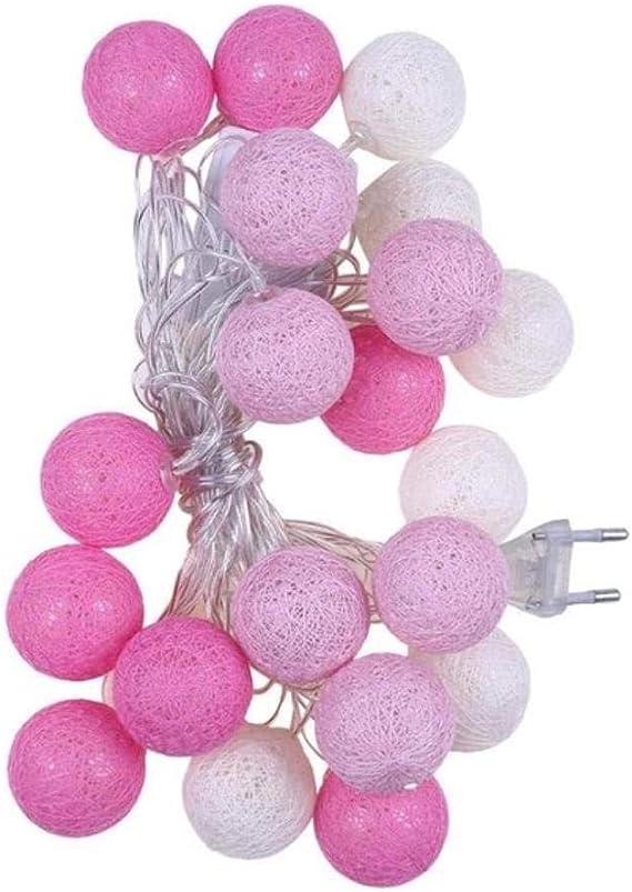 20 LED Luces de cadena de bola de algodón para decoración al aire ...