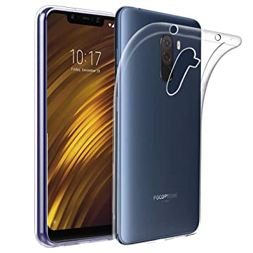 ebestStar - Funda Xiaomi Pocophone F1 Carcasa Silicona, Protección Crystal Clear TPU Gel, Ultra Slim Case, Transparente [Aparato: 155.5 x 75.3 x ...