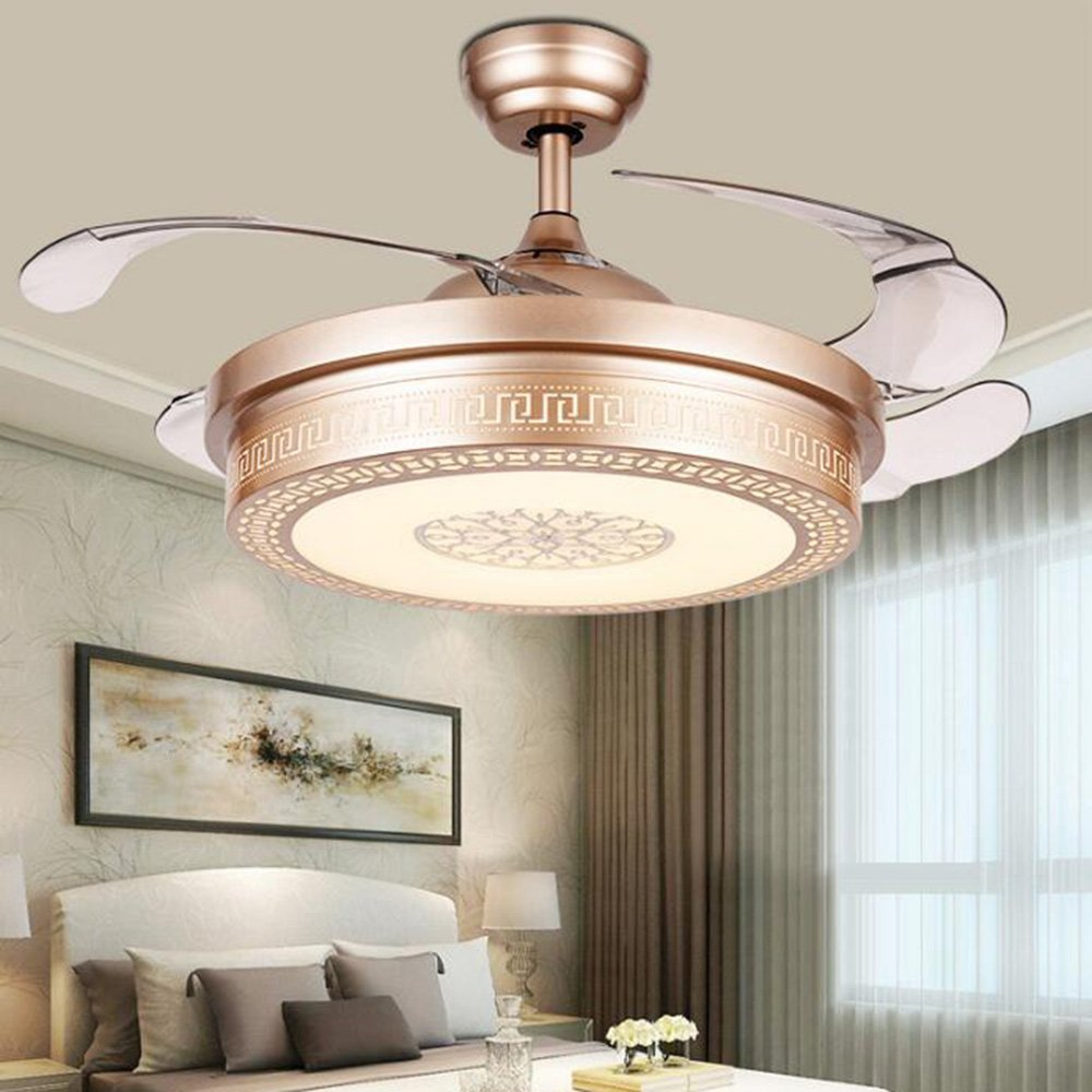 TiptonLight Simple Style For Bedroom,Living Room,42 Inch With Led Light Has White ,Warm,Neutral Light,Suitable For Different Occasion (42 Inch, Gold)