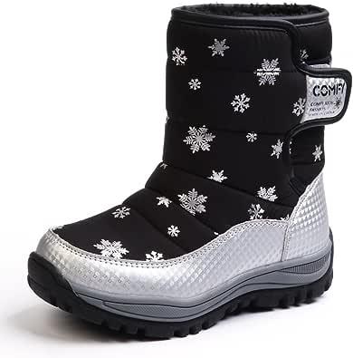 Chiximaxu Maxu Toddler Kids Slip on Winter Snow Boots