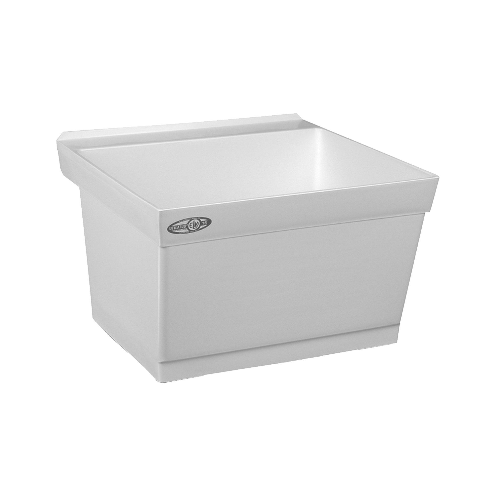 Mustee 15W Utilatub Laundry Tub Wall Mount, 23.5-Inch x 23-Inch, White