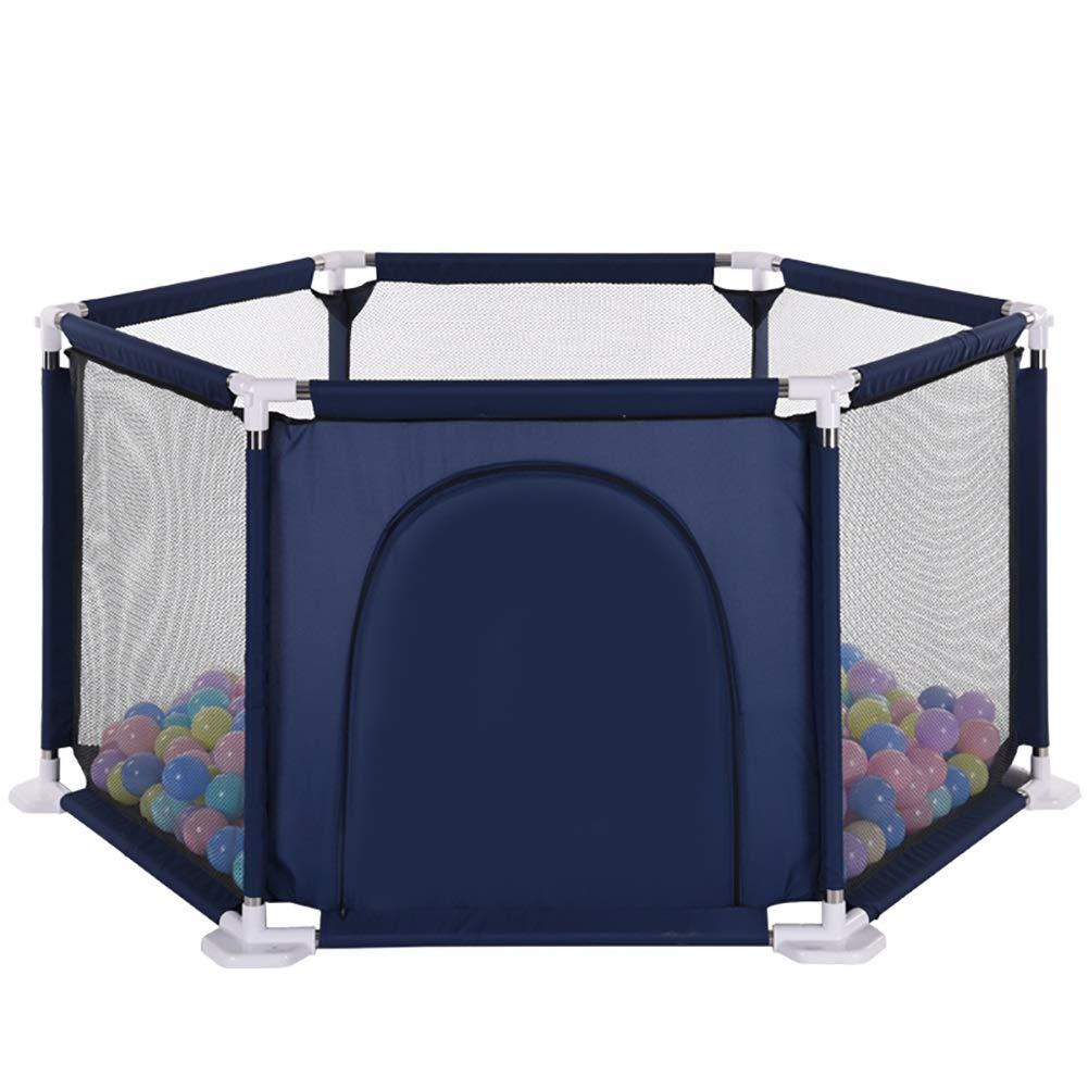 【5%OFF】 ベビーサークル B07KZXX5B8 室内6パネル幼児の安全プレイフェンスベイビープレイヤード、200ボール、ジッパーのドアを持つポータブルキッズプラカード : (色 : (色 青) B07KZXX5B8, カホーPLUS:abe2dcb4 --- a0267596.xsph.ru