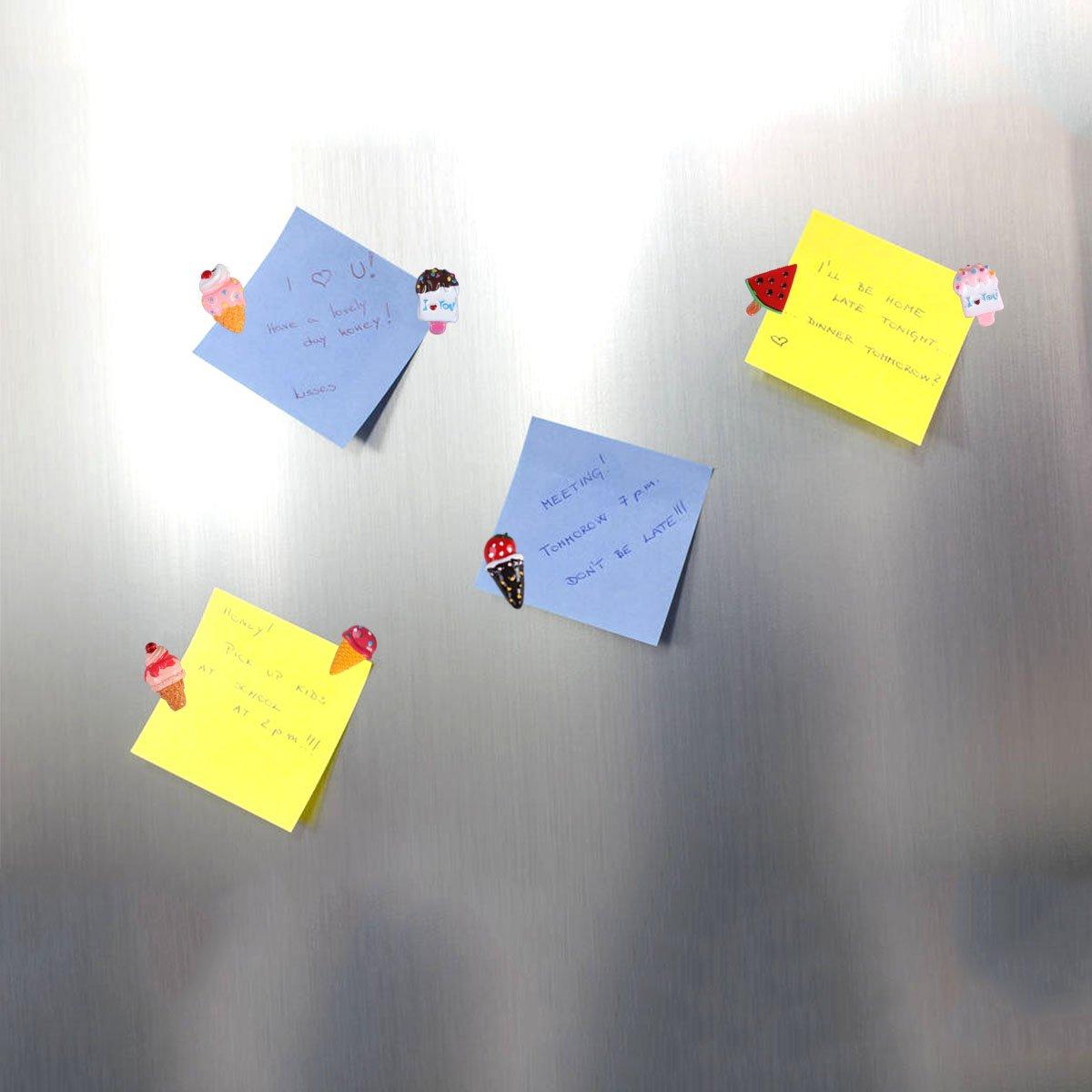 BESTOMZ 10 pi/èce Magnet Frigo Aimant Frigo Aimant R/éfrig/érateur pour /École /À La Maison Salle de classe Cr/ème Glac/ée