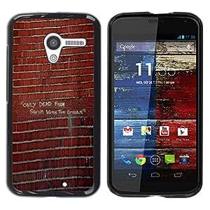 iBinBang / Funda Carcasa Cover Skin Case - Pared de ladrillo pintada Arte de la calle del edificio - Motorola Moto X 1 1st GEN I XT1058 XT1053 XT1052 XT1056 XT1060 XT1055