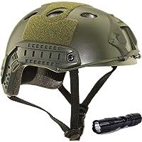 QMFIVE Casco táctico Estilo Militar, Casco de Airsoft