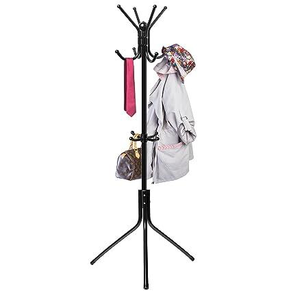 Incroyable Coat Hat Rack Hanger Stand Tree Metal Hook Holder Umbrella Hooks Hall  Clothes Purse Jacket Office